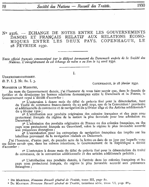 ANNEXE - INT - Note du 28 janvier 1930 (convention fiscale franco-danoise) - page 1