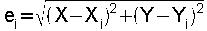 fourmule pour calcul des ecarts