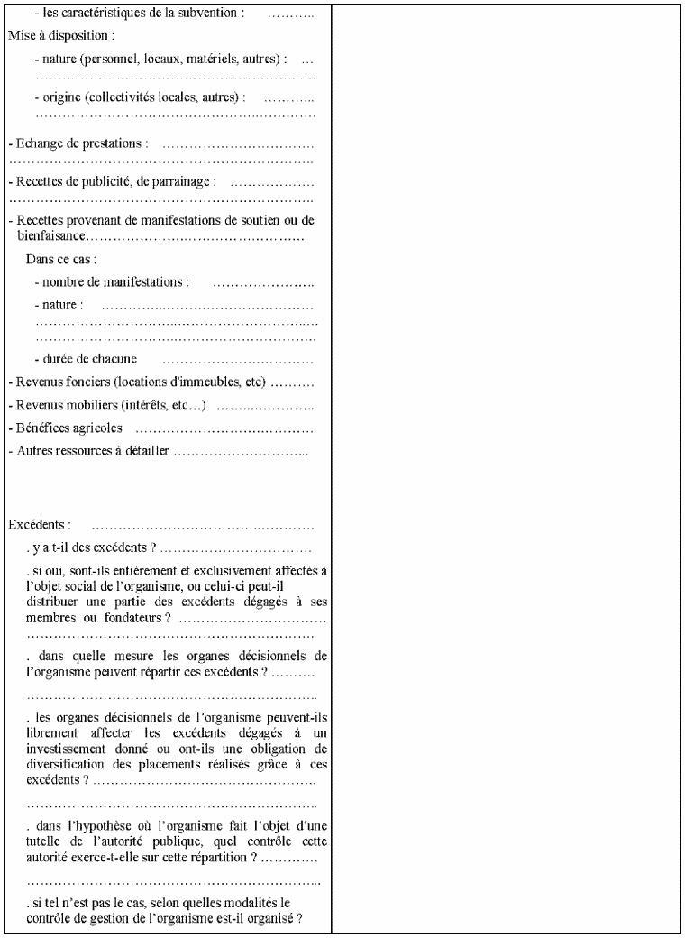 7ème partie du questionnaire relatif à la situation fiscale des OSBLn'ayant pas leur siège social en France