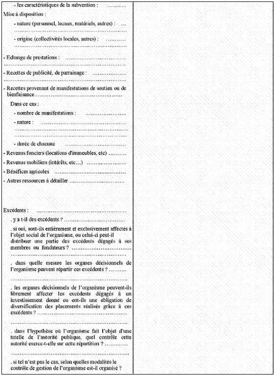 Questionnaire à remplir par les organismes à but non lucratif des Etats de l'Union Européenne autres que la France et des autres Etats de l'Espace Economique Européen ayant conclu avec la France une convention d'assistance administrative en vue de lutter contre la fraude et l'évasion fiscales